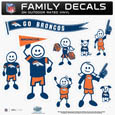 Denver Broncos Family Decal Set Large