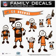 Cleveland Browns Family Decal Set Large