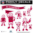Arizona Cardinals Large Family Decal Set - Show off your Arizona Cardinals pride with our Arizona Cardinals family automotive decals. Each Arizona Cardinals Large Family Decal Set includes 9 individual family themed decals that each feature the Arizona Cardinals logo. The large characters are a full 6 inches tall! The 11 x 11 inch Arizona Cardinals Large Family Decal Set is made of outdoor rated, repositionable vinyl for durability and easy application. Officially licensed NFL product Licensee: Siskiyou Buckle .com