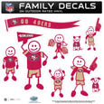 San Francisco 49ers Large Family Decal Set - Show off your San Francisco 49ers pride with our San Francisco 49ers family automotive decals. Each San Francisco 49ers Large Family Decal Set includes 9 individual family themed decals that each feature the San Francisco 49ers logo. The large characters are a full 6 inches tall! The 11 x 11 inch San Francisco 49ers Large Family Decal Set is made of outdoor rated, repositionable vinyl for durability and easy application. Officially licensed NFL product Licensee: Siskiyou Buckle .com