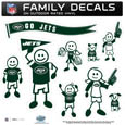 New York Jets Large Family Decal Set - Show off your New York Jets pride with our New York Jets family automotive decals. Each New York Jets Large Family Decal Set includes 9 individual family themed decals that each feature the New York Jets logo. The large characters are a full 6 inches tall! The 11 x 11 inch New York Jets Large Family Decal Set is made of outdoor rated, repositionable vinyl for durability and easy application. Officially licensed NFL product Licensee: Siskiyou Buckle Thank you for visiting CrazedOutSports.com