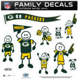 Green Bay Packers Large Family Decal Set - Show off your Green Bay Packers pride with our Green Bay Packers family automotive decals. Each Green Bay Packers Large Family Decal Set includes 9 individual family themed decals that each feature the Green Bay Packers logo. The large characters are a full 6 inches tall! The 11 x 11 inch Green Bay Packers Large Family Decal Set is made of outdoor rated, repositionable vinyl for durability and easy application. Officially licensed NFL product Licensee: Siskiyou Buckle Thank you for visiting CrazedOutSports.com