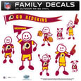 Washington Redskins Large Family Decal Set - Show off your Washington Redskins pride with our Washington Redskins family automotive decals. Each Washington Redskins Large Family Decal Set includes 9 individual family themed decals that each feature the Washington Redskins logo. The large characters are a full 6 inches tall! The 11 x 11 inch Washington Redskins Large Family Decal Set is made of outdoor rated, repositionable vinyl for durability and easy application. Officially licensed NFL product Licensee: Siskiyou Buckle Thank you for visiting CrazedOutSports.com