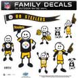 Pittsburgh Steelers Large Family Decal Set - Show off your Pittsburgh Steelers pride with our Pittsburgh Steelers family automotive decals. Each Pittsburgh Steelers Large Family Decal Set includes 9 individual family themed decals that each feature the Pittsburgh Steelers logo. The large characters are a full 6 inches tall! The 11 x 11 inch Pittsburgh Steelers Large Family Decal Set is made of outdoor rated, repositionable vinyl for durability and easy application. Officially licensed NFL product Licensee: Siskiyou Buckle Thank you for visiting CrazedOutSports.com