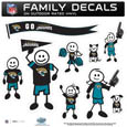 Jacksonville Jaguars Large Family Decal Set - Show off your Jacksonville Jaguars pride with our Jacksonville Jaguars family automotive decals. Each Jacksonville Jaguars Large Family Decal Set includes 9 individual family themed decals that each feature the Jacksonville Jaguars logo. The large characters are a full 6 inches tall! The 11 x 11 inch Jacksonville Jaguars Large Family Decal Set is made of outdoor rated, repositionable vinyl for durability and easy application. Officially licensed NFL product Licensee: Siskiyou Buckle Thank you for visiting CrazedOutSports.com
