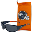 Denver Broncos Sunglass and Bag Set - Get our most popular Denver Broncos sunglasses with a matching microfiber bag carrying case. The wrap sunglasses are durable and fashionable with the maximum UVA/UBVB protection. The stylish bag is made of microfiber so it can also be used as a cleaning cloth. Officially licensed NFL product Licensee: Siskiyou Buckle Thank you for visiting CrazedOutSports.com