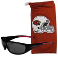 Arizona Cardinals Sunglass and Bag Set - Get our most popular Arizona Cardinals sunglasses with a matching microfiber bag carrying case. The wrap sunglasses are durable and fashionable with the maximum UVA/UBVB protection. The stylish bag is made of microfiber so it can also be used as a cleaning cloth. Officially licensed NFL product Licensee: Siskiyou Buckle .com