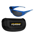 Los Angeles Chargers Wrap Sunglass and Zippered Case Set