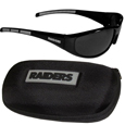 Oakland Raiders Wrap Sunglass and Zippered Case Set