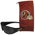 Washington Redskins Sunglass and Bag Set - Get our most popular Washington Redskins sunglasses with a matching microfiber bag carrying case. The wrap sunglasses are durable and fashionable with the maximum UVA/UBVB protection. The stylish bag is made of microfiber so it can also be used as a cleaning cloth. Officially licensed NFL product Licensee: Siskiyou Buckle Thank you for visiting CrazedOutSports.com