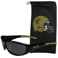 New Orleans Saints Sunglass and Bag Set - Get our most popular New Orleans Saints sunglasses with a matching microfiber bag carrying case. The wrap sunglasses are durable and fashionable with the maximum UVA/UBVB protection. The stylish bag is made of microfiber so it can also be used as a cleaning cloth. Officially licensed NFL product Licensee: Siskiyou Buckle Thank you for visiting CrazedOutSports.com