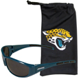Jacksonville Jaguars Sunglass and Bag Set - Get our most popular Jacksonville Jaguars sunglasses with a matching microfiber bag carrying case. The wrap sunglasses are durable and fashionable with the maximum UVA/UBVB protection. The stylish bag is made of microfiber so it can also be used as a cleaning cloth. Officially licensed NFL product Licensee: Siskiyou Buckle Thank you for visiting CrazedOutSports.com