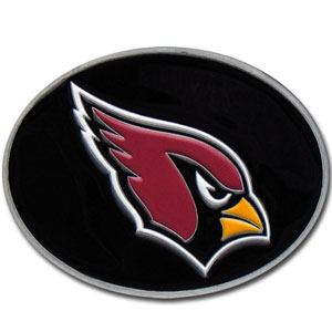 Arizona Cardinals Logo Buckle - Officially licensed Arizona Cardinals Logo Buckles feature a prominent Arizona Cardinals logo with a hand enameled finish.  Officially licensed NFL product Licensee: Siskiyou Buckle .com