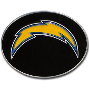 Los Angeles Chargers Logo Buckle - Officially licensed Los Angeles Chargers Logo Buckles feature a prominent Los Angeles Chargers logo with a hand enameled finish. Officially licensed NFL product Licensee: Siskiyou Buckle .com