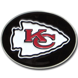 Kansas City Chiefs Logo Buckle - Officially licensed Kansas City Chiefs Logo Buckles feature a prominent Kansas City Chiefs logo with a hand enameled finish.  Officially licensed NFL product Licensee: Siskiyou Buckle Thank you for visiting CrazedOutSports.com