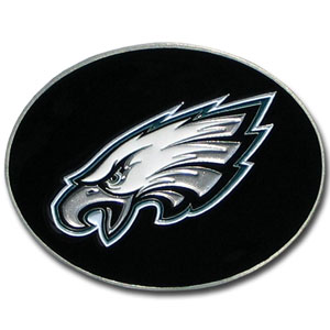 Philadelphia Eagles Logo Buckle - Officially licensed Philadelphia Eagles Logo Buckles feature a prominent Philadelphia Eagles logo with a hand enameled finish. Officially licensed NFL product Licensee: Siskiyou Buckle .com