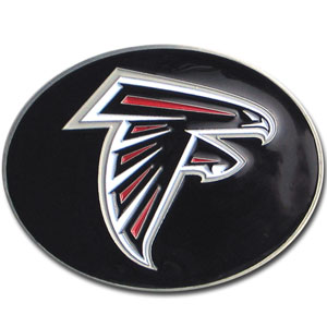 Atlanta Falcons Logo Buckle - Officially licensed Atlanta Falcons Logo Buckles feature a prominent Atlanta Falcons logo with a hand enameled finish.  Officially licensed NFL product Licensee: Siskiyou Buckle .com