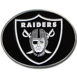 Oakland Raiders Logo Buckle - Officially licensed Oakland Raiders Logo Buckles feature a prominent Oakland Raiders logo with a hand enameled finish. Officially licensed NFL product Licensee: Siskiyou Buckle Thank you for visiting CrazedOutSports.com