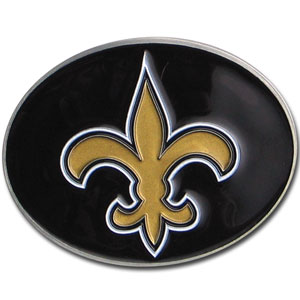 New Orleans Saints Logo Buckle - Officially licensed New Orleans Saints Logo Buckles feature a prominent New Orleans Saints logo with a hand enameled finish.  Officially licensed NFL product Licensee: Siskiyou Buckle .com