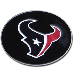 Houston Texans Logo Buckle - Officially licensed Houston Texans Logo Buckles feature a prominent Houston Texans logo with a hand enameled finish.  Officially licensed NFL product Licensee: Siskiyou Buckle .com