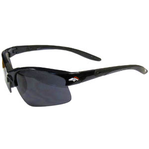 Denver Broncos Blade Sunglasses - Officially licensed Denver Broncos blade sunglasses have the Denver Broncos screen printed on both sides of the frames. Look stylish wearing Denver Broncos sports memorabilia sunglasses with arms that feature rubber colored accents and UV400 protection. Officially licensed NFL product Licensee: Siskiyou Buckle Thank you for visiting CrazedOutSports.com