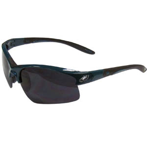 Philadelphia Eagles Blade Sunglasses - Officially licensed Philadelphia Eagles blade sunglasses have the Philadelphia Eagles screen printed on both sides of the frames. Look stylish wearing Philadelphia Eagles sports memorabilia sunglasses with arms that feature rubber colored accents and UV400 protection. Officially licensed NFL product Licensee: Siskiyou Buckle .com