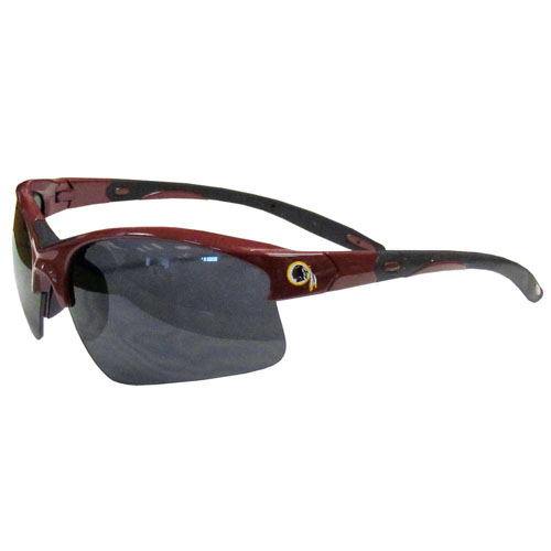 Washington Redskins Blade Sunglasses - Officially licensed Washington Redskins blade sunglasses have the Washington Redskins logo screen printed on both sides of the frames. Look stylish wearing Washington Redskins sports memorabilia sunglasses with arms that feature rubber colored accents and UV400 protection. Officially licensed NFL product Licensee: Siskiyou Buckle Thank you for visiting CrazedOutSports.com