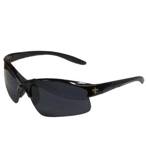 New Orleans Saints Blade Sunglasses - Officially licensed New Orleans Saints blade sunglasses have the New Orleans Saints logo screen printed on both sides of the frames. Look stylish wearing New Orleans Saints sports memorabilia sunglasses with arms that feature rubber colored accents and UV400 protection. Officially licensed NFL product Licensee: Siskiyou Buckle .com