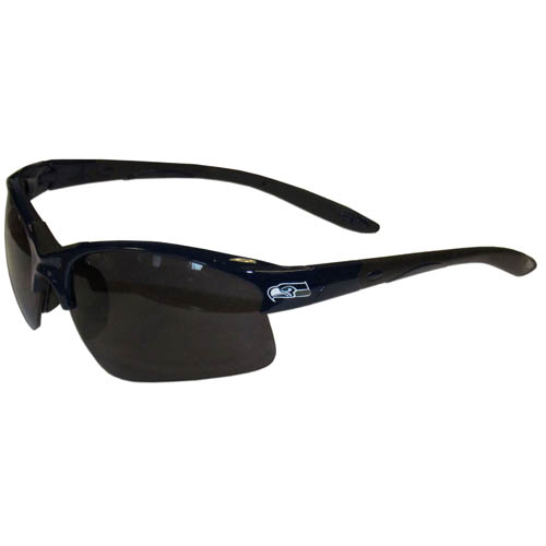 Seattle Seahawks Blade Sunglasses - Officially licensed Seattle Seahawks blade sunglasses have the Seattle Seahawks logo screen printed on both sides of the frames. Look stylish wearing Seattle Seahawks sports memorabilia sunglasses with arms that feature rubber colored accents and UV400 protection. Officially licensed NFL product Licensee: Siskiyou Buckle .com