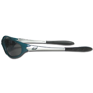 Philadelphia Eagles Team Sunglasses - These sporty looking Philadelphia Eagles Team sunglasses have the Philadelphia Eagles logo screen printed both sides of the frames. The Philadelphia Eagles sunglass arms feature rubber Philadelphia Eagles colored accents. Look great in Philadelphia Eagles sports memorabilia while rooting for your favorite sports team. Officially licensed NFL product Licensee: Siskiyou Buckle .com