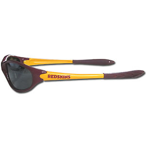 Washington Redskins Team Sunglasses - These sporty looking Washington Redskins Team sunglasses have the Washington Redskins logo screen printed both sides of the frames. The Washington Redskins team sunglass arms feature rubber Washington Redskins colored accents.  Look great in Washington Redskins our sports memorabilia while rooting for your favorite sports team. Officially licensed NFL product Licensee: Siskiyou Buckle Thank you for visiting CrazedOutSports.com