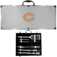 Chicago Bears 8 pc Stainless Steel BBQ Set w/Metal Case