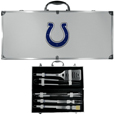 Indianapolis Colts 8 pc Stainless Steel BBQ Set w/Metal Case
