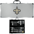 New Orleans Saints 8 pc Stainless Steel BBQ Set w/Metal Case