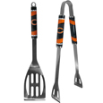 Chicago Bears 2 pc. Steel BBQ Tool Set - This Chicago Bears stainless steel 2 pc. BBQ set is a tailgater's best friend. The colorful and large Chicago Bears graphics let's everyone know you are a fan! The Chicago Bears stainless steel 2 pc. BBQ set includes a spatula and tongs with the Chicago Bears proudly display on each tool. Officially licensed NFL product Licensee: Siskiyou Buckle .com