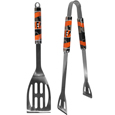 Cincinnati Bengals 2 pc. Steel BBQ Tool Set - This Cincinnati Bengals stainless steel 2 pc. BBQ set is a tailgater's best friend. The colorful and large Cincinnati Bengals graphics let's everyone know you are a fan! The Cincinnati Bengals stainless steel 2 pc. BBQ set includes a spatula and tongs with the Cincinnati Bengals proudly display on each tool. Officially licensed NFL product Licensee: Siskiyou Buckle Thank you for visiting CrazedOutSports.com