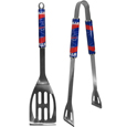 Buffalo Bills 2 pc. Steel BBQ Tool Set - This Buffalo Bills stainless steel 2 pc. BBQ set is a tailgater's best friend. The colorful and large Buffalo Bills graphics let's everyone know you are a fan! The Buffalo Bills stainless steel 2 pc. BBQ set includes a spatula and tongs with the Buffalo Bills proudly display on each tool. Officially licensed NFL product Licensee: Siskiyou Buckle .com