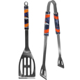 Denver Broncos 2 pc. Steel BBQ Tool Set - This Denver Broncos stainless steel 2 pc. BBQ set is a tailgater's best friend. The colorful and large Denver Broncos graphics let's everyone know you are a fan! The Denver Broncos stainless steel 2 pc. BBQ set includes a spatula and tongs with the Denver Broncos proudly display on each tool. Officially licensed NFL product Licensee: Siskiyou Buckle Thank you for visiting CrazedOutSports.com