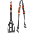 Cleveland Browns 2 pc. Steel BBQ Tool Set - This Cleveland Browns stainless steel 2 pc. BBQ set is a tailgater's best friend. The colorful and large Cleveland Browns graphics let's everyone know you are a fan! The Cleveland Browns stainless steel 2 pc. BBQ set includes a spatula and tongs with the Cleveland Browns proudly display on each tool. Officially licensed NFL product Licensee: Siskiyou Buckle Thank you for visiting CrazedOutSports.com
