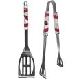 Arizona Cardinals 2 pc. Steel BBQ Tool Set - This Arizona Cardinals stainless steel 2 pc. BBQ set is a tailgater's best friend. The colorful and large Arizona Cardinals graphics let's everyone know you are a fan! The Arizona Cardinals stainless steel 2 pc. BBQ set includes a spatula and tongs with the Arizona Cardinals proudly display on each tool. Officially licensed NFL product Licensee: Siskiyou Buckle .com