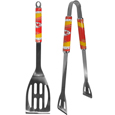 Kansas City Chiefs 2 pc. Steel BBQ Tool Set - This Kansas City Chiefs stainless steel 2 pc. BBQ set is a tailgater's best friend. The colorful and large Kansas City Chiefs graphics let's everyone know you are a fan! The Kansas City Chiefs stainless steel 2 pc. BBQ set in includes a spatula and tongs with the Kansas City Chiefs proudly display on each tool. Officially licensed NFL product Licensee: Siskiyou Buckle .com