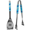 Miami Dolphins 2 pc. Steel BBQ Tool Set - This Miami Dolphins stainless steel 2 pc. BBQ set is a tailgater's best friend. The colorful and large Miami Dolphins graphics let's everyone know you are a fan! The Miami Dolphins stainless steel 2 pc. BBQ set includes a spatula and tongs with the Miami Dolphins proudly display on each tool. Officially licensed NFL product Licensee: Siskiyou Buckle .com