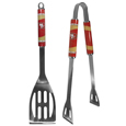 San Francisco 49ers 2 pc. Steel BBQ Tool Set - This San Francisco 49ers stainless steel 2 pc. BBQ set is a tailgater's best friend. The colorful and large San Francisco 49ers graphics let's everyone know you are a fan! The San Francisco 49ers stainless steel 2 pc. BBQ set includes a spatula and tongs with the San Francisco 49ers proudly display on each tool. Officially licensed NFL product Licensee: Siskiyou Buckle Thank you for visiting CrazedOutSports.com