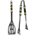 Green Bay Packers 2 pc. Steel BBQ Tool Set - This Green Bay Packers stainless steel 2 pc. BBQ set is a tailgater's best friend. The colorful and large Green Bay Packers graphics let's everyone know you are a fan! The Green Bay Packers stainless steel 2 pc. BBQ set includes a spatula and tongs with the Green Bay Packers proudly display on each tool. Officially licensed NFL product Licensee: Siskiyou Buckle .com