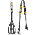Pittsburgh Steelers 2 pc. Steel BBQ Tool Set - This Pittsburgh Steelers stainless steel 2 pc. BBQ set is a tailgater's best friend. The colorful and large Pittsburgh Steelers graphics let's everyone know you are a fan! The Pittsburgh Steelers stainless steel 2 pc. BBQ set includes a spatula and tongs with the Pittsburgh Steelers proudly display on each tool. Officially licensed NFL product Licensee: Siskiyou Buckle Thank you for visiting CrazedOutSports.com