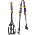 Minnesota Vikings 2 pc. Steel BBQ Tool Set - This Minnesota Vikings stainless steel 2 pc. BBQ set is a tailgater's best friend. The colorful and large Minnesota Vikings graphics let's everyone know you are a fan! The Minnesota Vikings 2 pc. Steel BBQ Tool Set includes a spatula and tongs with the Minnesota Vikings proudly display on each tool. Officially licensed NFL product Licensee: Siskiyou Buckle Thank you for visiting CrazedOutSports.com