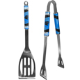 Carolina Panthers 2 pc. Steel BBQ Tool Set - This Carolina Panthers stainless steel 2 pc. BBQ set is a tailgater's best friend. The colorful and large Carolina Panthers graphics let's everyone know you are a fan! The Carolina Panthers 2 pc. Steel BBQ Tool Set includes a spatula and tongs with the Carolina Panthers proudly display on each tool. Officially licensed NFL product Licensee: Siskiyou Buckle Thank you for visiting CrazedOutSports.com
