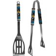 Jacksonville Jaguars 2 pc. Steel BBQ Tool Set - This stainless steel 2 pc. BBQ set is a tailgater's best friend. The colorful and large Jacksonville Jaguars graphics let's everyone know you are a fan! The Jacksonville Jaguars 2 pc. Steel BBQ Tool Set includes a spatula and tongs with the Jacksonville Jaguars proudly display on each tool. Officially licensed NFL product Licensee: Siskiyou Buckle Thank you for visiting CrazedOutSports.com