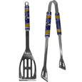 Baltimore Ravens 2 pc. Steel BBQ Tool Set - This stainless steel 2 pc. BBQ set is a tailgater's best friend. The colorful and large Baltimore Ravens graphics let's everyone know you are a fan! The Baltimore Ravens 2 pc. Steel BBQ Tool Set includes a spatula and tongs with the Baltimore Ravens proudly display on each tool. Officially licensed NFL product Licensee: Siskiyou Buckle .com
