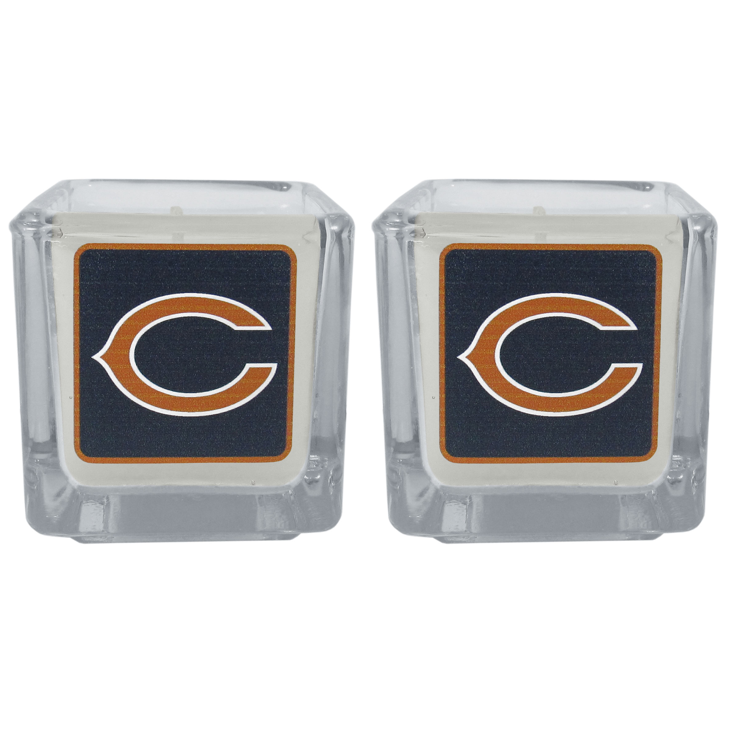Chicago Bears Graphics Candle Set - Our candle set features 2 lightly vanilla scented candles with the Chicago Bears logo expertly printed on front. The candles are 2 inches tall in the votive style.